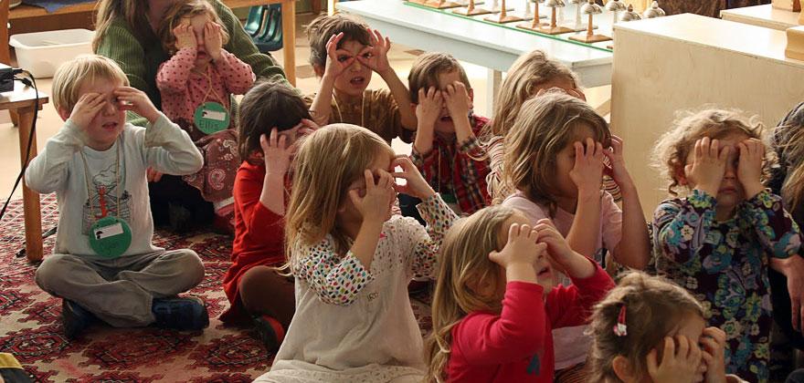 Learning at Portland Montessori school